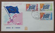 CEPT/Europa, Dienstmarken Europarat 1975, FDC m. Mi. 16-18