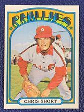 1972 Topps Set Break Chris Short Philadelphia Phillies #665