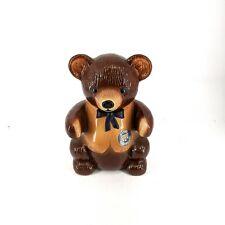 Brown Teddy Bear Kraet Marshmallow Ceramic Cookie Jar Made in USA 1982 Kraft INC