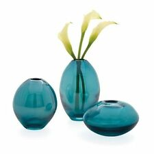 New Torre & Tagus Mini Lustre Vases Asst, Set of 3 - Turquoise