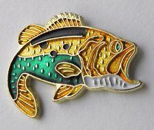 FISHING BASS FISH LAPEL PIN BADGE 3/4 INCH