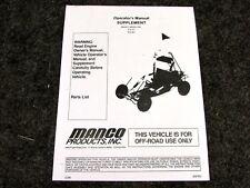 Manco Model 415-311 416-361 Go Kart Parts List Operators Manual Cart