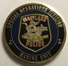MTA Maryland Transportation Authority Special Operations Division Marine Unit