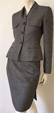 Christian Dior Boutique black white wool skirt suit set jacket blazer 2 pc EUC 8
