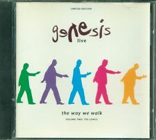 Genesis - Live The Way We Walk Volume Two The Longs Limited Canada Press Cd Vg