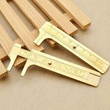 Mini Copper Measurement Tool Vernier Calipers Inch & cm Pocket Ruler Gauge