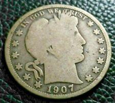 1907 O Barber Half Dollar