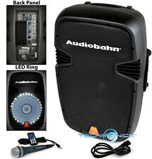 "AUDIOBAHN TORQ 15"" POWERED 2600W PRO DJ BLUETOOTH USB PA LED SPEAKER KARAOKE MIC"