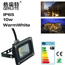 10W 12V LED Flood Light Spotlight Warm White Energy Outdoor Garden Lamp IP65