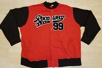 Rocawear 99 Red & Black button snap jacket Stitched Patch Men's XL