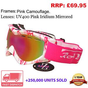 Rayzor Camo Ski Snowboard Goggles 100% UV400 Antifog Double Lens CAGPPIGO RRP£69