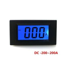 LCD Display Amp Panel Meter DC 0~ +/-200A Test Positive and Negative Meter