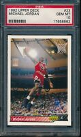 PSA 10 MICHAEL JORDAN 1992-93 Upper Deck #23 CHICAGO BULLS HOF GOAT GEM MINT