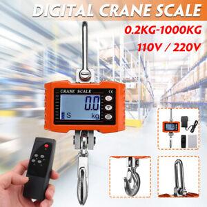 1000kg HD LED Electronic Digital Hook Crane Scale With Remote control  U