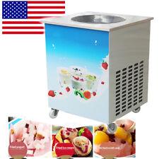 Us Round Fry Pan Electric Thai Style Fried Yogurt Rolled Ice Cream Machine Maker