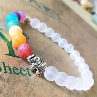 7 Chakra Elephant Beaded Bracelet Mala Beads Reiki Yoga Energy Bracelet Jewelry