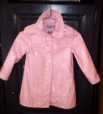 ciré manteau long doublé   taille 6 ans  marque vynil fraise rose saumon