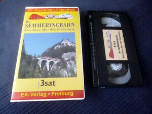VHS EK Eisenbahn Semmeringbahn Zauberberg Dampfloks Elektroloks ZDF Mauerbahn