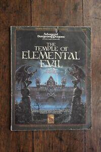 Temple of Elemental Evil Supermodule AD&D 1st Edition TSR 9147 T1-4 1991 Good