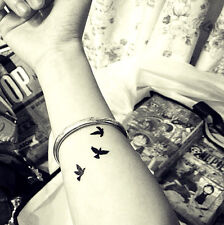 Temporary Tattoo Black Swallow Birds  TT426 Wrist Ankle Finger Tattoos