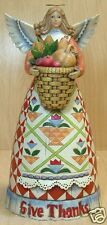 Jim Shore Thanksgiving Give Thanks Angel with cornucopia Hallmark Exclus 4006649