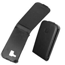 custodia eco PELLE nera SLIM per SAMSUNG i8160 GALAXY ACE 2 flip case