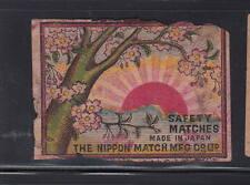 Ancienne   étiquette Allumettes Japon   AAA6990  Arbre en fleurs Soleil 2