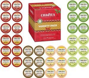 Cha4TEA 36 Keurig KCup Tea Variety Flavor Sampler Pack K Cups (Green Tea, Black