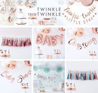 Baby Shower Party DECORATIONS OH BABY ROSE GOLD Gender Reveal GARLAND / BUNTING