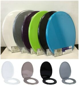 """Oval Shape Universal Fit Polypropylene Toilet Seat WC With Fixing Bathroom 18"""""""