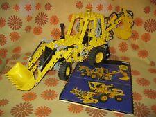 Vintage 1989 LEGO TECHNIC SET N°8862 BACKHOE GRADER COMPLET + NOTICE Pelleteuse