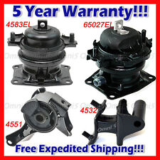 M164 For 2006-2008 Honda Pilot 3.5L 2WD, Engine Motor & Trans Mount Kit 4pcs