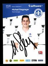 Michael Stegmayer Autogrammkarte SV Darmstadt 98 2016-17 Original Sign+A 150669
