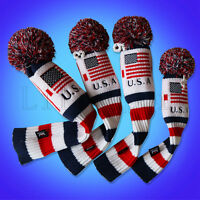 Golf Pom Pom Cover Driver Rescue Fairway for Taylormade Headcover Hybrid US Flag