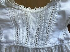 Antique Christening Gown Dress Victorian Embroidered Baby Baptism Doll Display