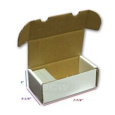 New 400 Card Storage Box Baseball Trading Gaming Cardboard BCW Supplies