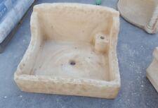Lavandino cemento e marmo lavabo lavello acquaio 50x60  rustico  finta pietra