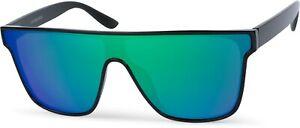 Shield Monoglas Sonnenbrille, Polycarbonat Glas und Kunststoff Rahmen, Retro