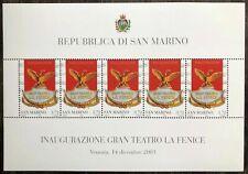 2003 - SAN MARINO - FOGLIETTO TEATRO LA FENICE - NUOVO MNH - PERFETTO