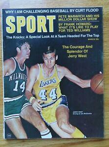 Sport JERRY WEST March 1970 LOS ANGELES LAKERS Magazine NO LABEL Jon McGlockin