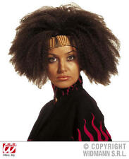 Donna Nero / Marrone confuso Capelli Parrucca Tina Turner Beyonce FANCY DRESS