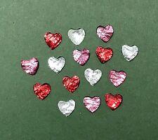 Adorno de corazón Rhinestone-Metálico-San Valentín Scrapbook-Joyería