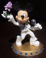 RARE Disney LE Mickey Mouse Elvis King Of Rock Costume Figure Statue Display