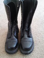 demonia 14 eyelet boots punk boots skinhead size 8