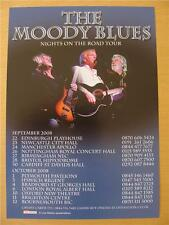 Flyer: Moody Blues : 2008 Nights On The Road UK Tour