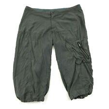 Columbia OMNI-SHIELD Cropped Hiking Pants Womens Size 32 Waist Capri Nylon Short
