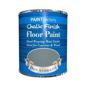 Paint Factory Chalk Chalky Floor Paint 650ml Deep Anthracite Matt