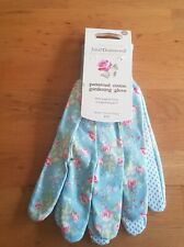 GARDEN GLOVES JULIE DODSWORTH BY BRIERS FLORAL COTTON GRIP MULTI PURPOSE HOUSE