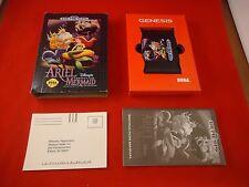 Ariel the Little Mermaid (Sega Genesis, 1992) COMPLETE w/ Box manual game WORKS!