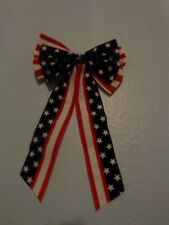 New listing American Patriotic 4th of July Stars Stripes Red White Blue Decoration Bow Usa